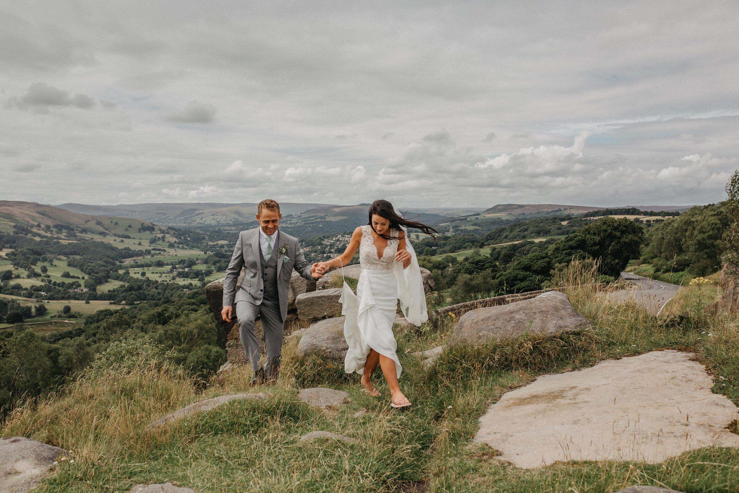 Peak District Hassop Hall Surprise View Wedding