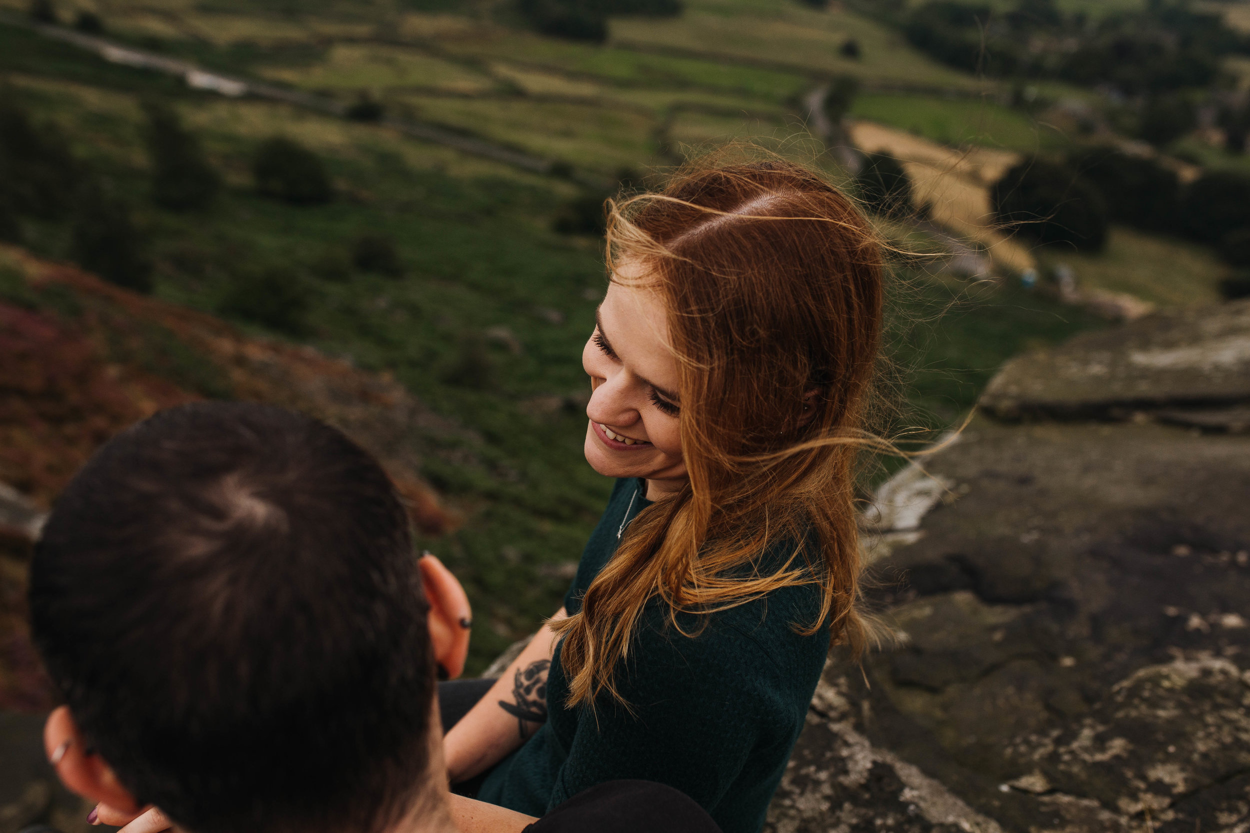 Sheffield Wedding Photographer Curbar Edge Engagement Shoot Peak District