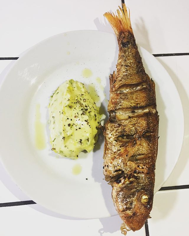 Chargrilled red mullet, sauce tartare on the menu tonight #freshtartare #redmullet #simplecooking #fish #broadwaymarket @finandflounder