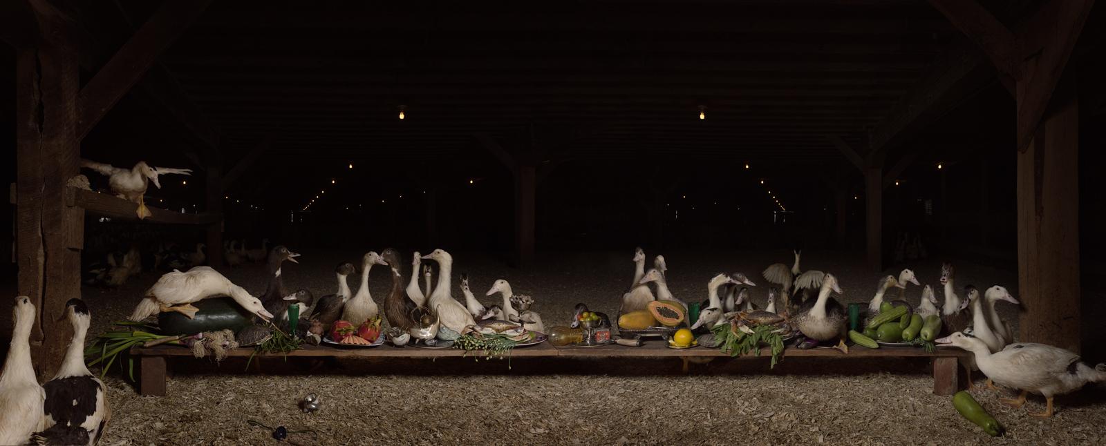 "The Moulard Feast   United States, 2014  10""x25"" | 20""x50"" | 40""x100"""