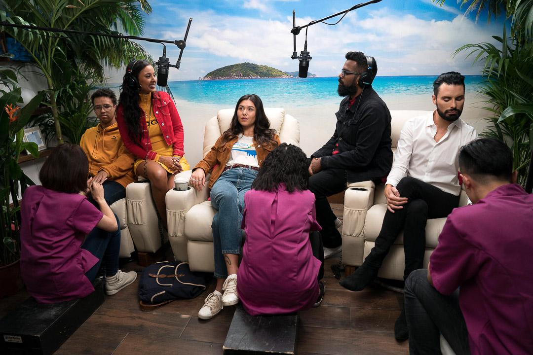 Maya Jama, Django Chan-Reeves, Romesh Ranganathan and Ryan Clark-Neal