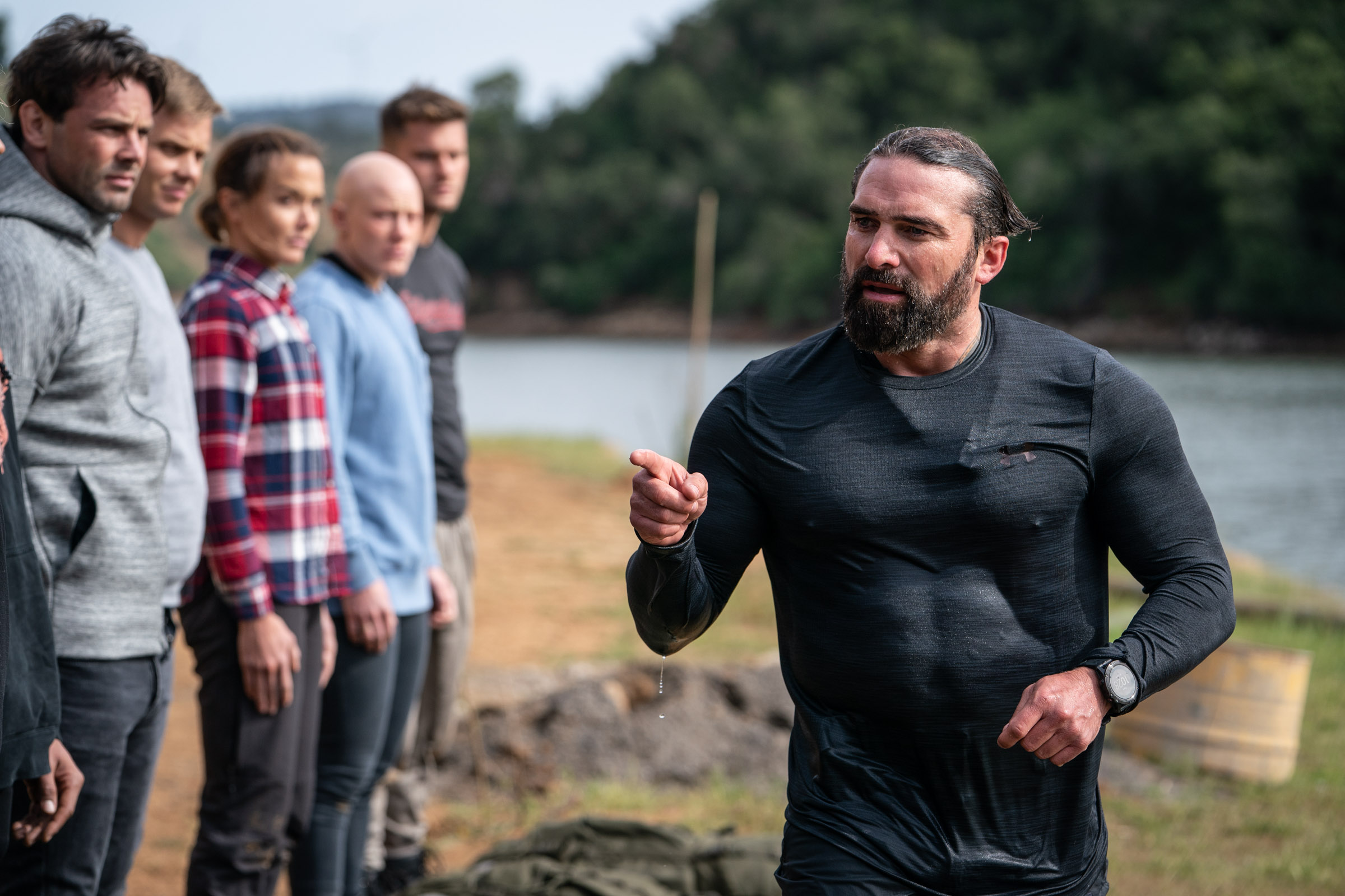 Chief Instructor Ant Middleton meets the recruits  Episode 1 - Courage  Minnow Films / Channel 4