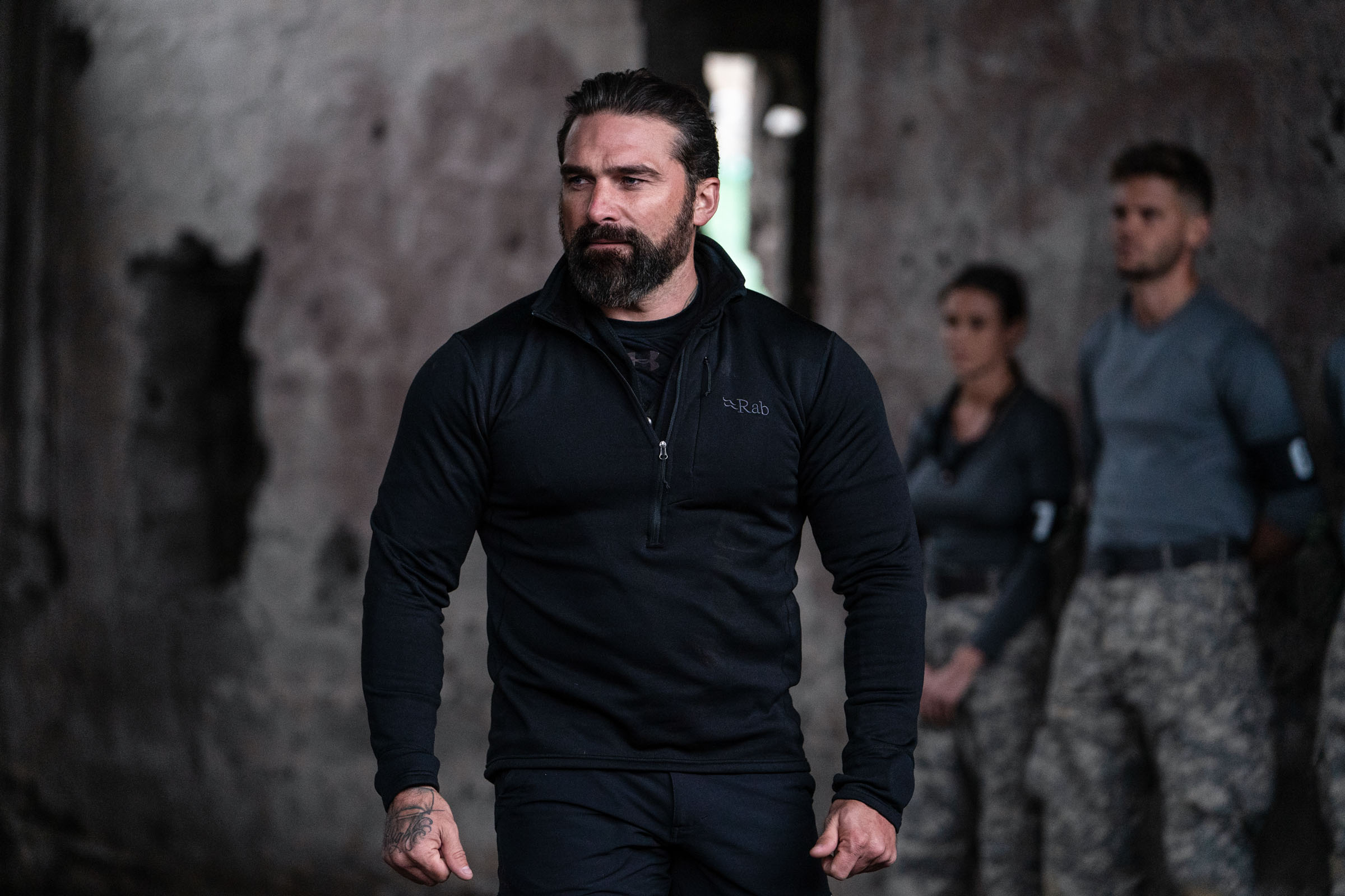 Chief Instructor Ant Middleton during the 2 vs 1 boxing  Episode 1 - Courage  Minnow Films / Channel 4