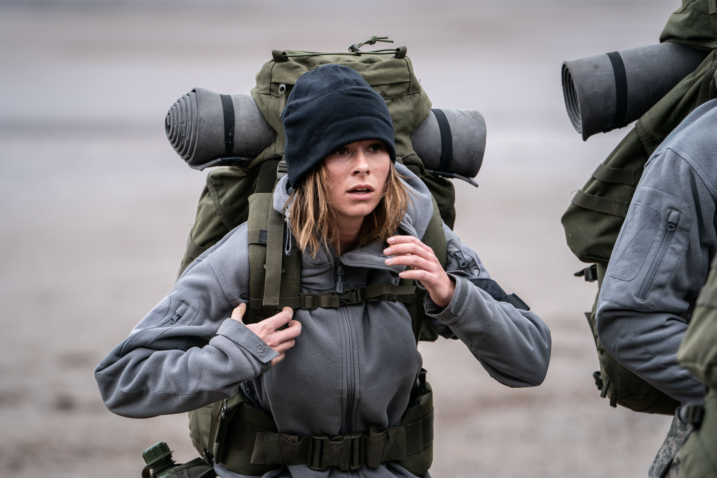 Camilla Thurlow marches to play Murderball  Episode 2  Minnow Films / Channel 4