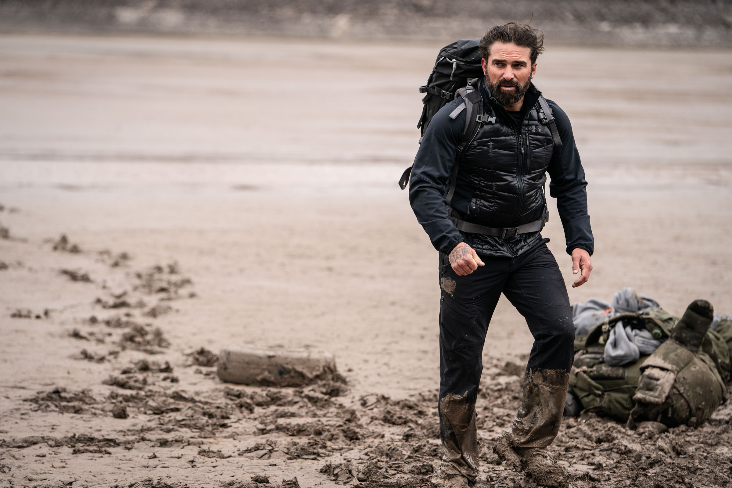 Chief Instructor Ant Middleton during the game of Murderball  Episode 2  Minnow Films / Channel 4