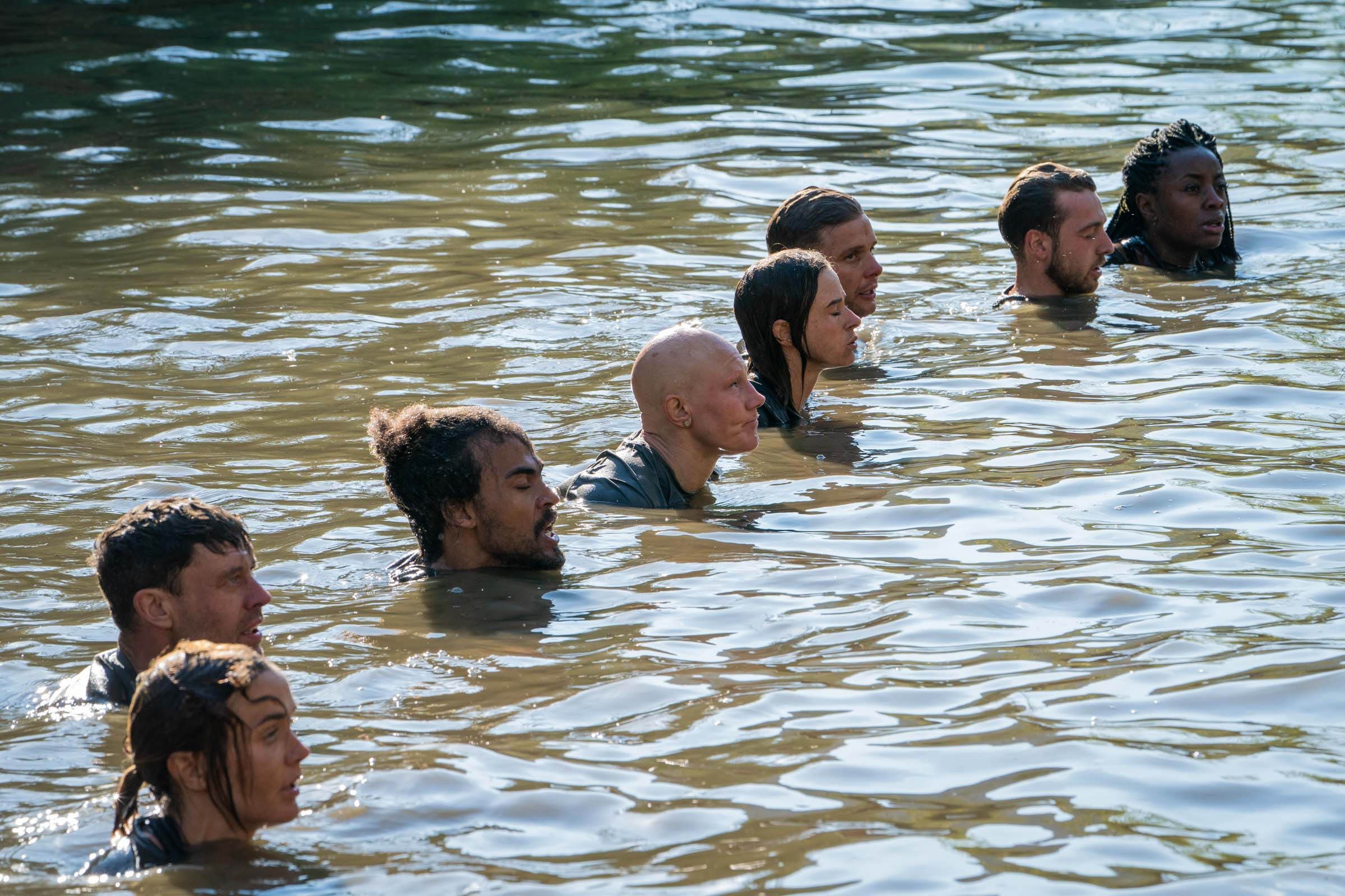 The Recruits submerge themselves during Water Butts  Episode 2  Minnow Films / Channel 4