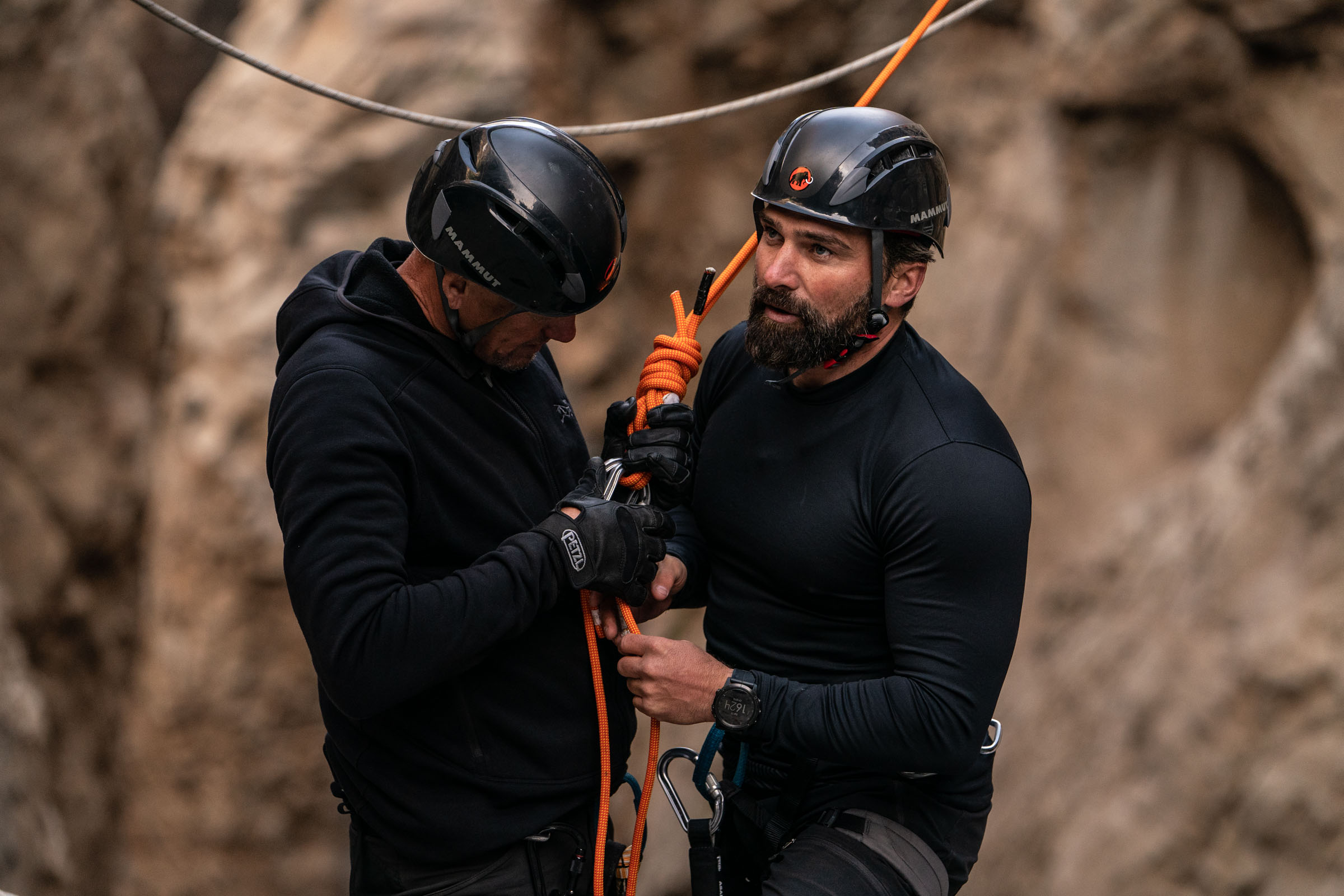 Chief Instructor Ant Middleton is helped out by DS Billy Billingham after crossing the Devils Throat  Episode 4  Minnow Films / Channel 4