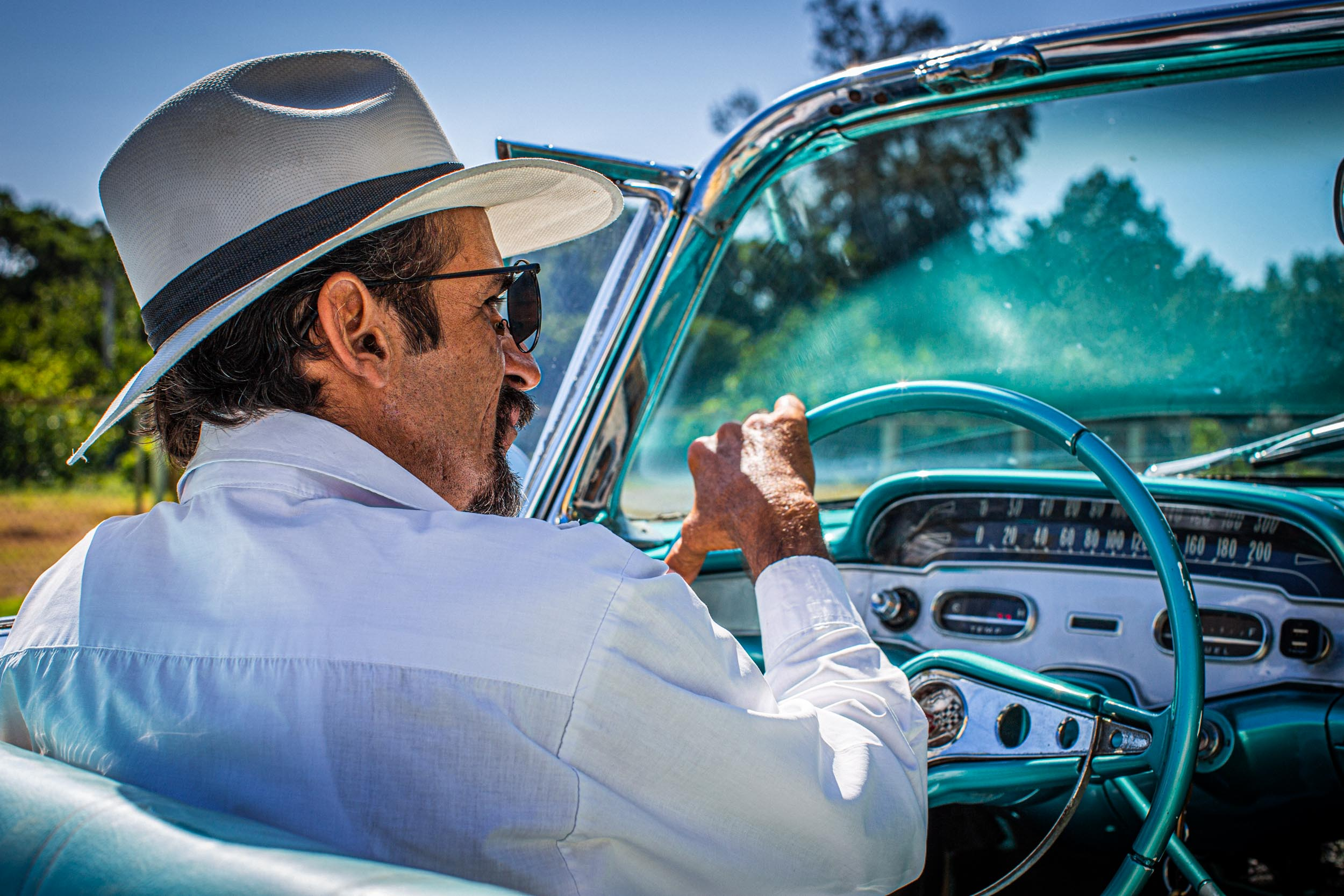 Raul in his 59 Chevrolet Impala