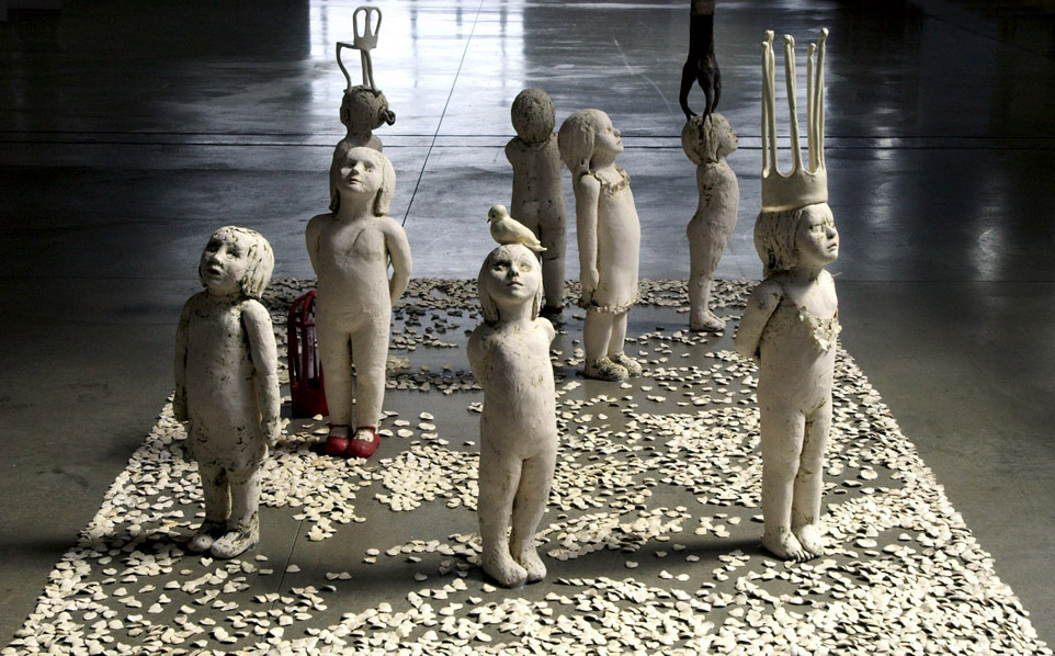 The Bruised Sky, 2005, Porcelain and Ceramic, 46 in. X 8 ft. X 14 ft. California College of Arts, San Francisco California