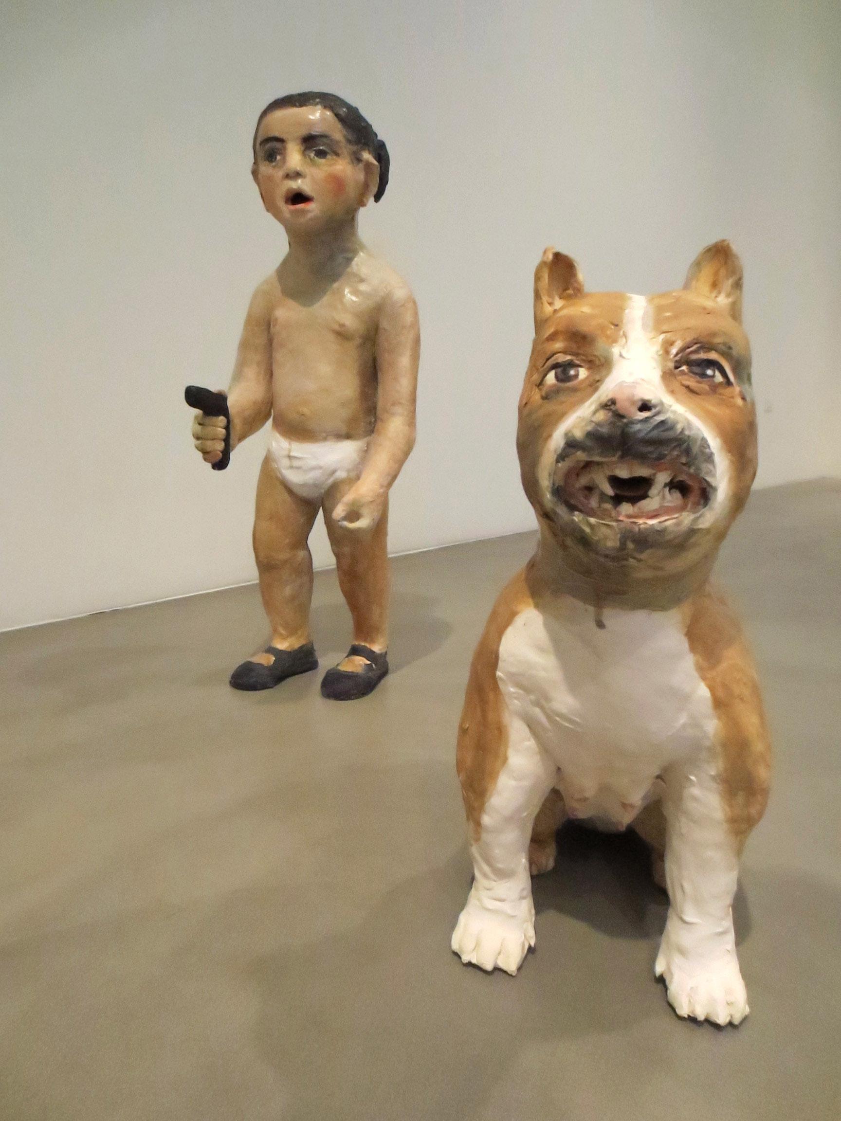Perro Pendiente, (Dog in Waiting) 2012, Ceramic, Scott White Contemporary Art, California