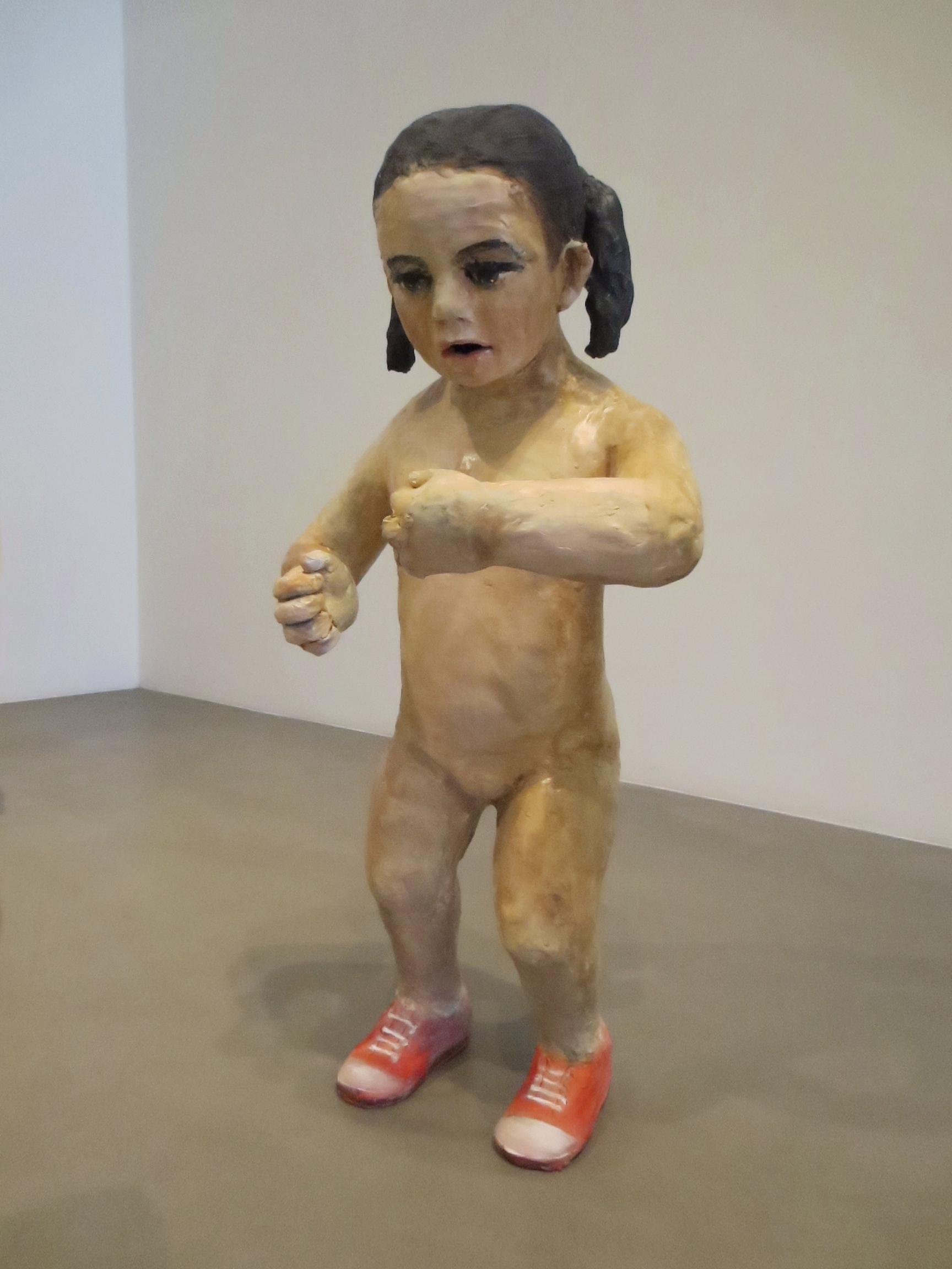 Pendiencia, (Bully 1), 2012, Glazed ceramic, 31 X 17 X 13 in.