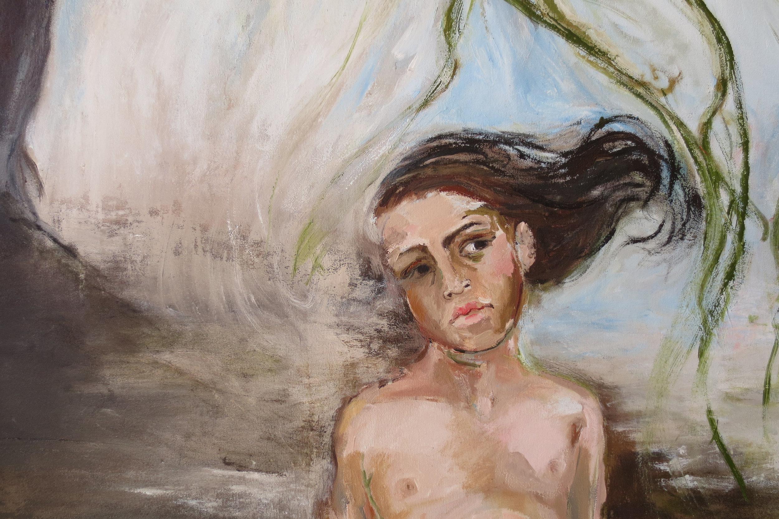 El Bosque (detail), 2014, Oil on canvas, 76 x 67 in.