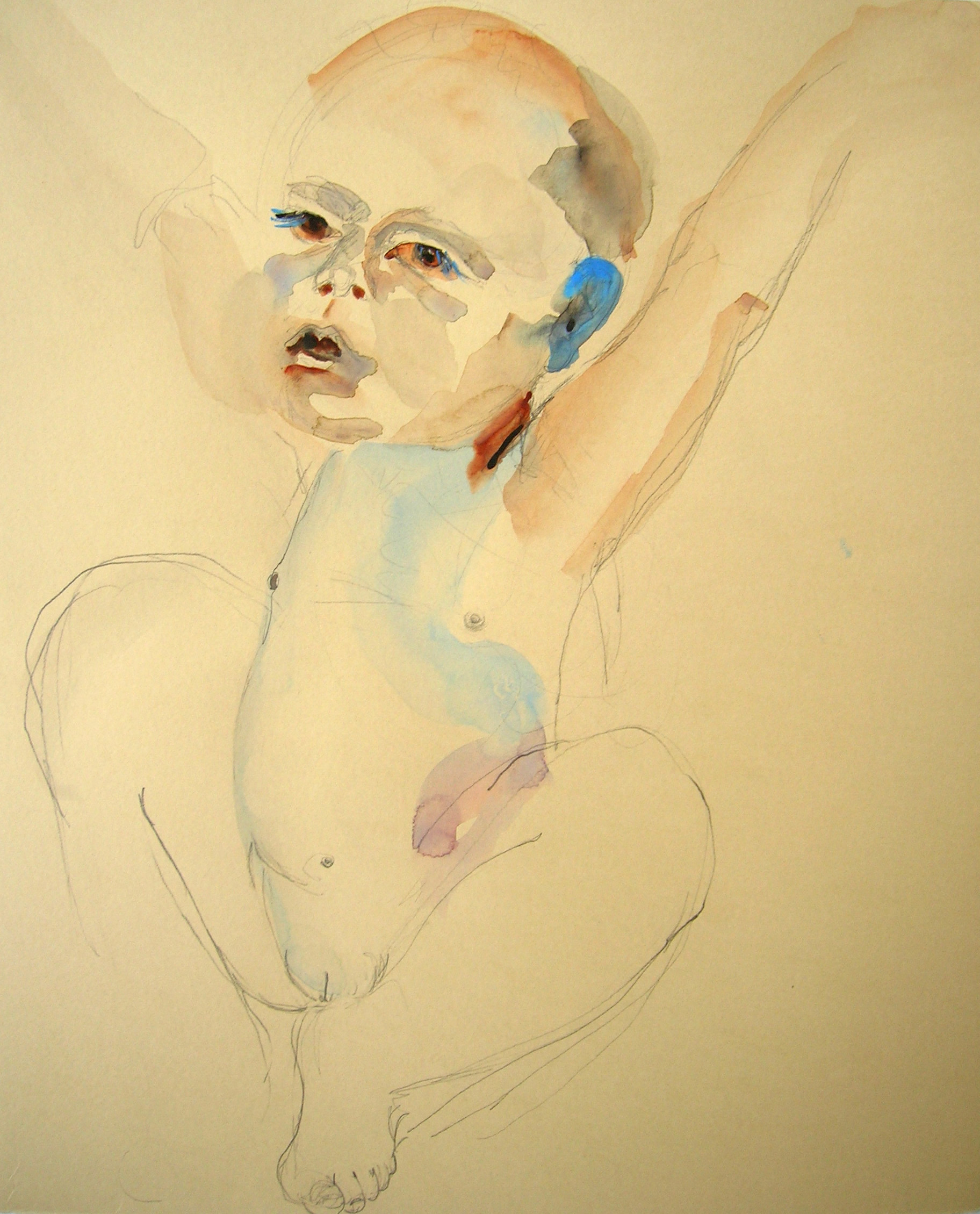 Sentencia, 2007, Graphite and watercolor on paper, 14 X 13 in.