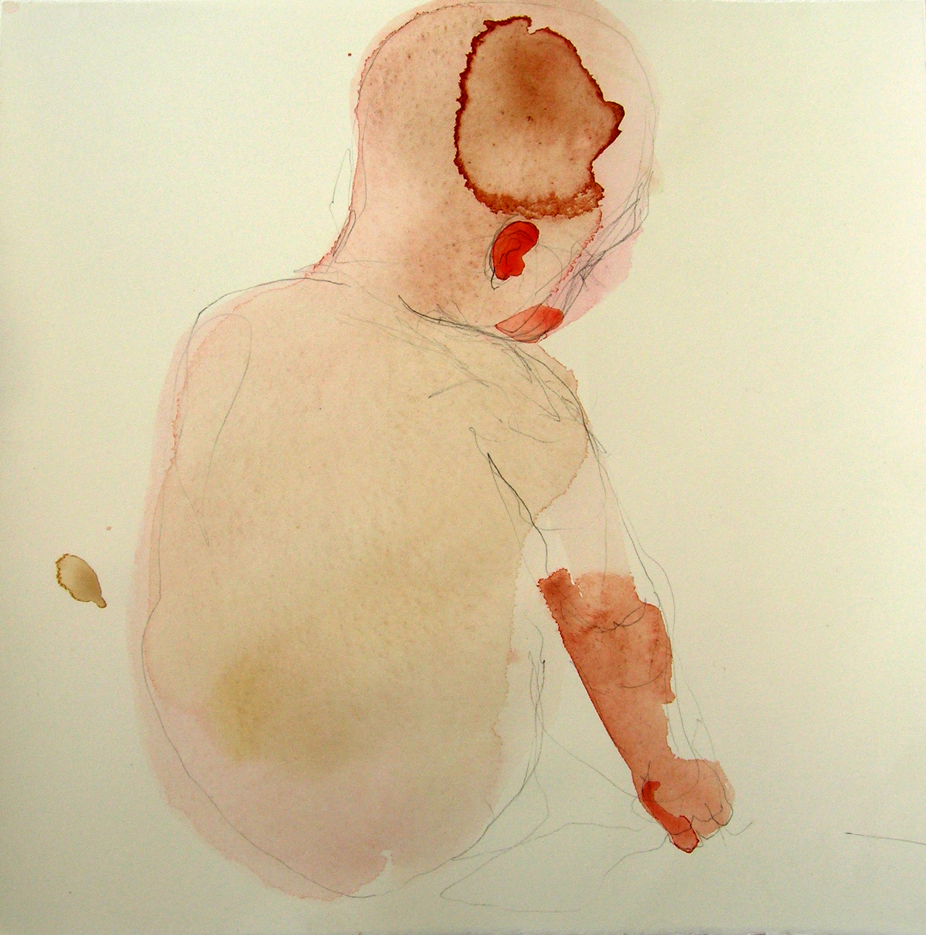 Sentar 20, 2007, Graphite and watercolor on paper, 13 X 12 in.