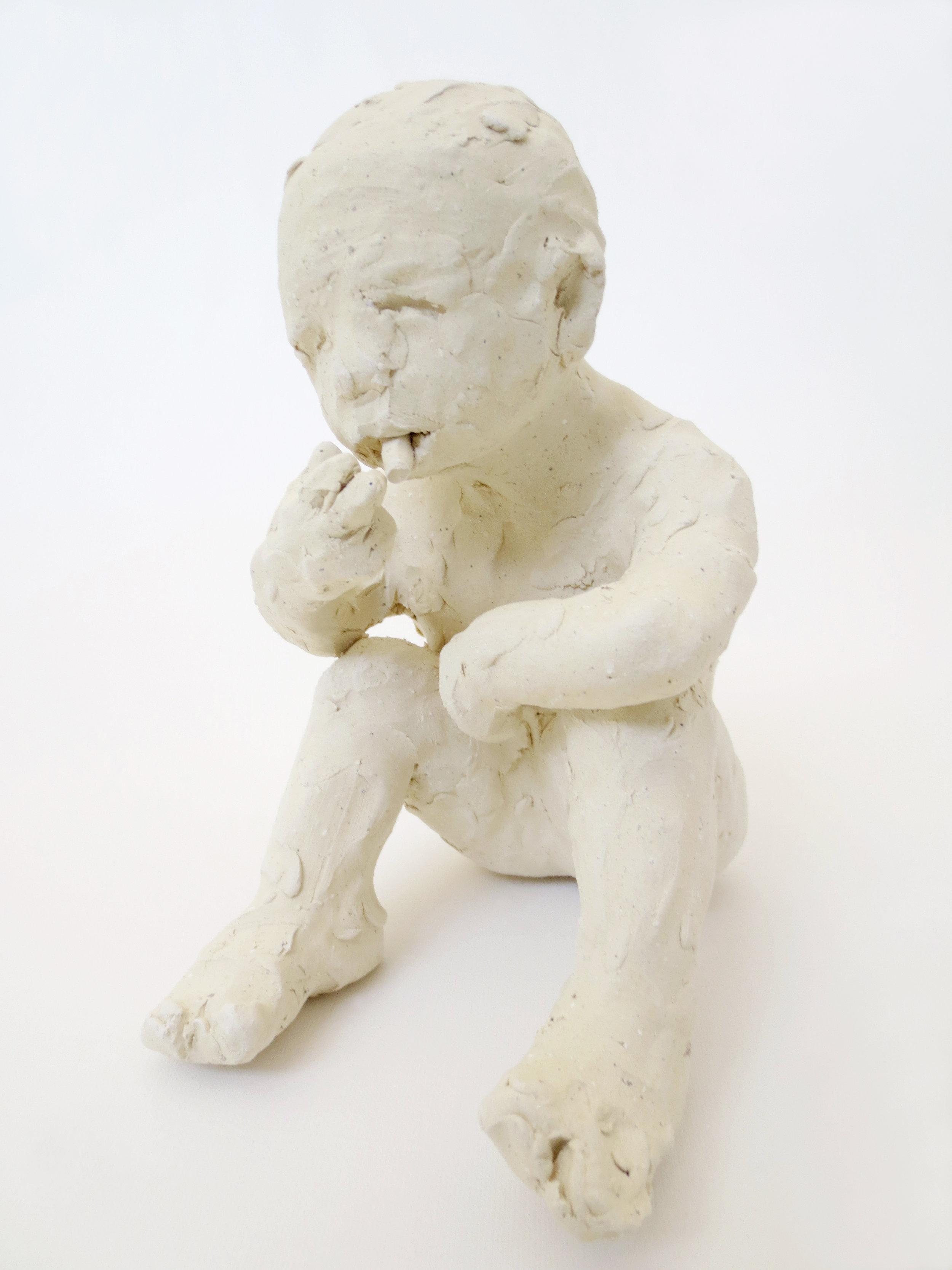 Fumando, 2014, Stoneware, 8 x 5 x 5 1/2 in.