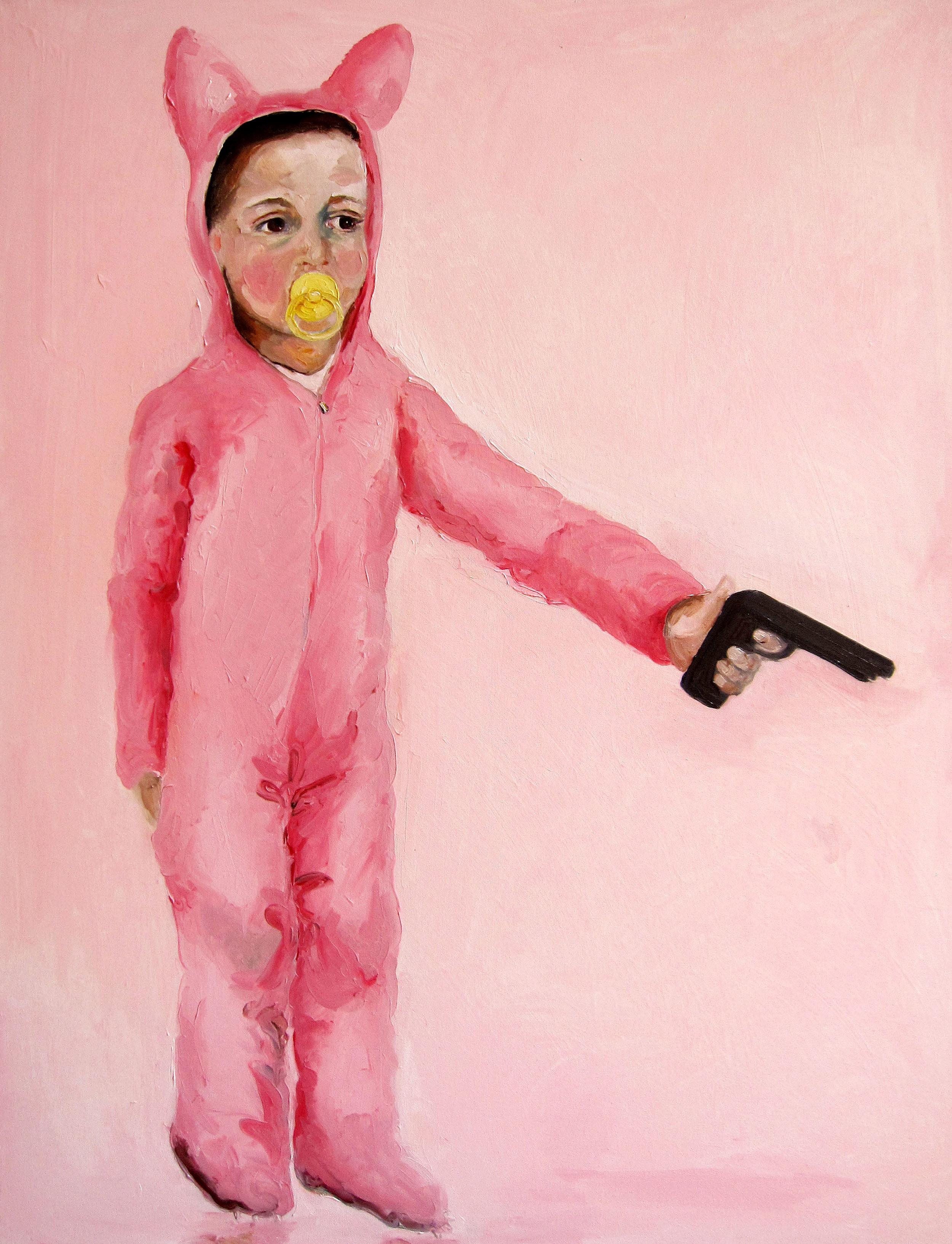 Chupon Amarillo, 2013, Oil on canvas, 40 x 30 in.