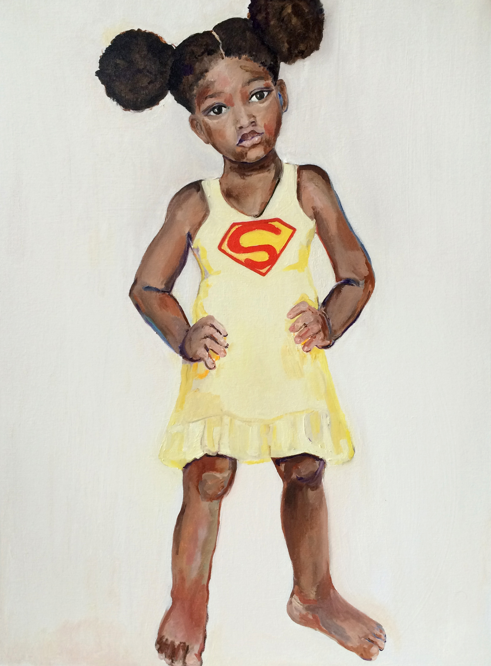 Super Girl, 2015, Oil on canvas, 40 x 30 in.