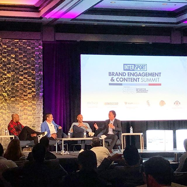 """Now more than ever Sports, Culture, and Technology, it's all connected."" - @richkleiman We couldn't agree more! Our Brands team is here at @sbj_sbd Brand Engagement and Content Summit! Check out our stories for some of the highlights. #SBJEngage #protechtwhatmatters"