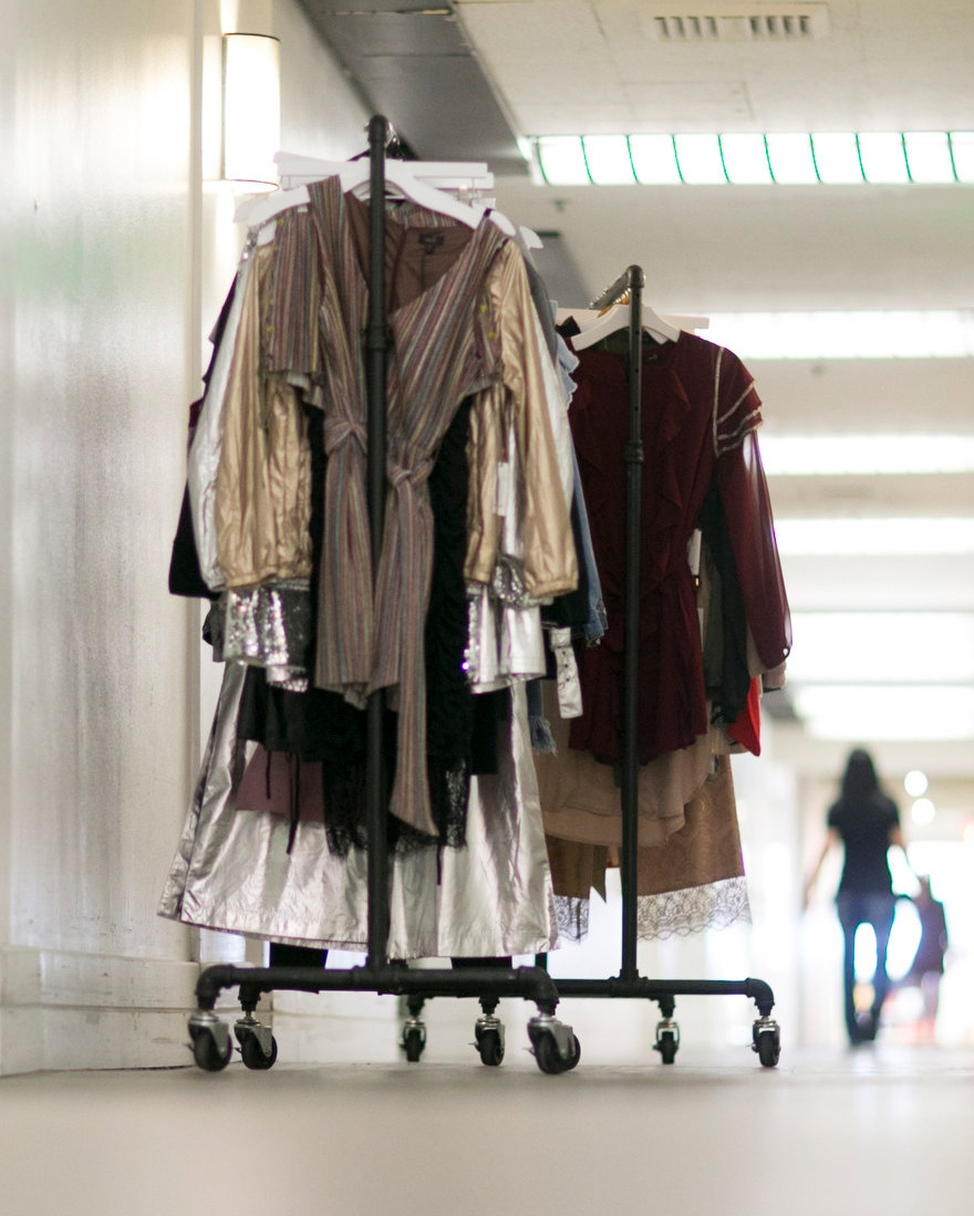 Garment Racks En Route To Showroom