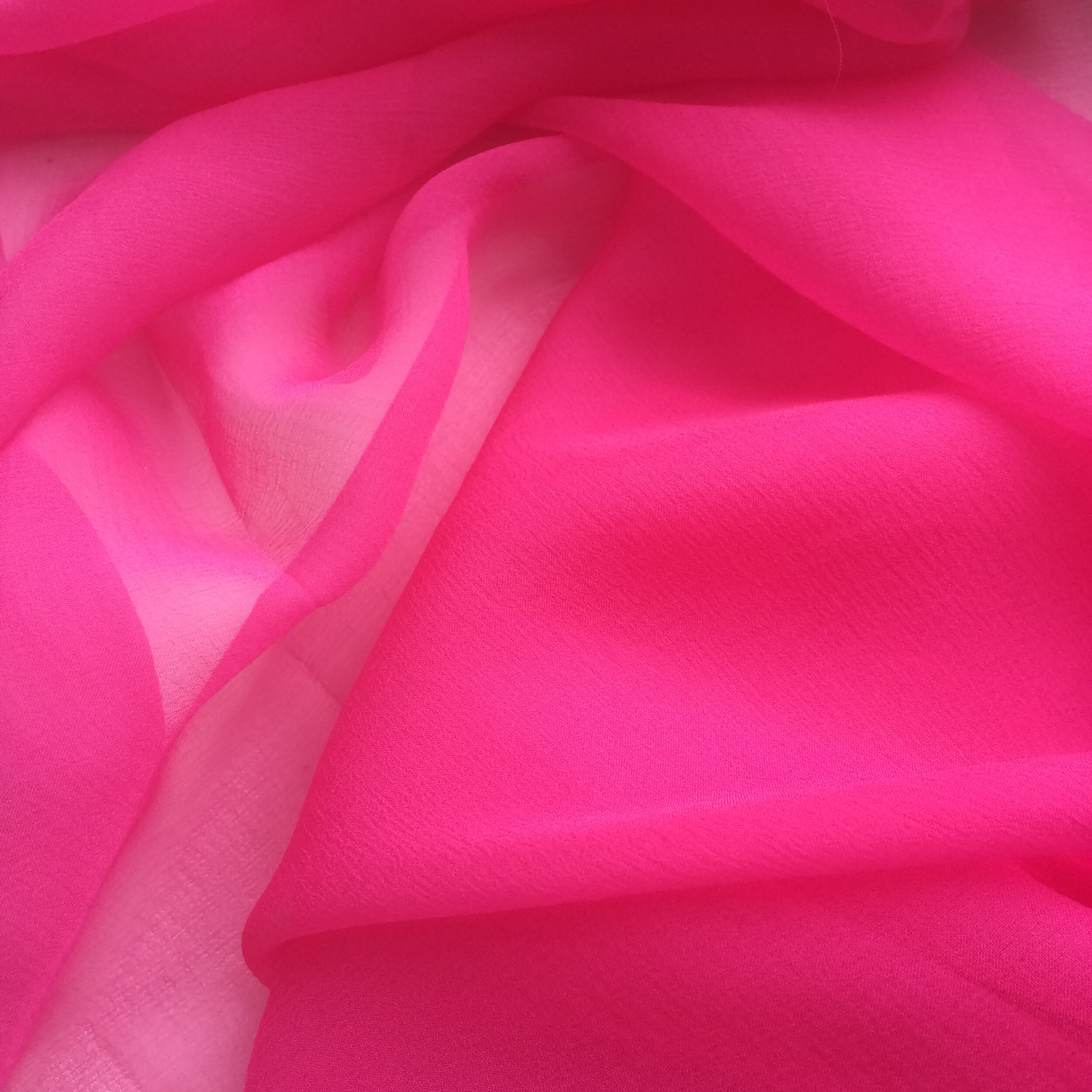 Pongees chiffon shocking pink.jpg