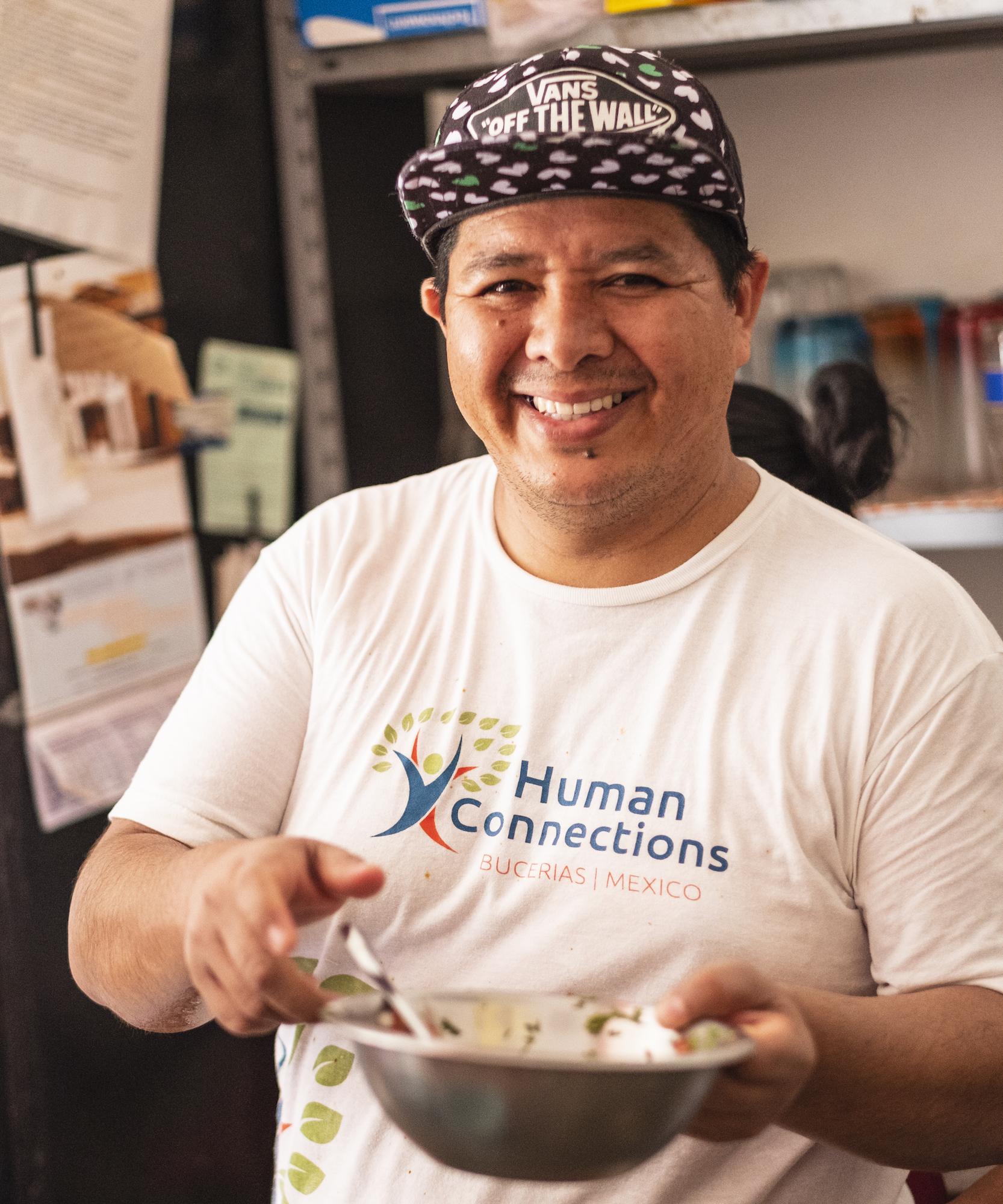 Omar; partner; smile; food; HC Marketing