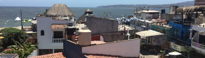 The view of Bahía de Banderas from the Human Connections office