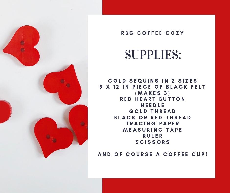 RBG Coffee Cozy Supply List