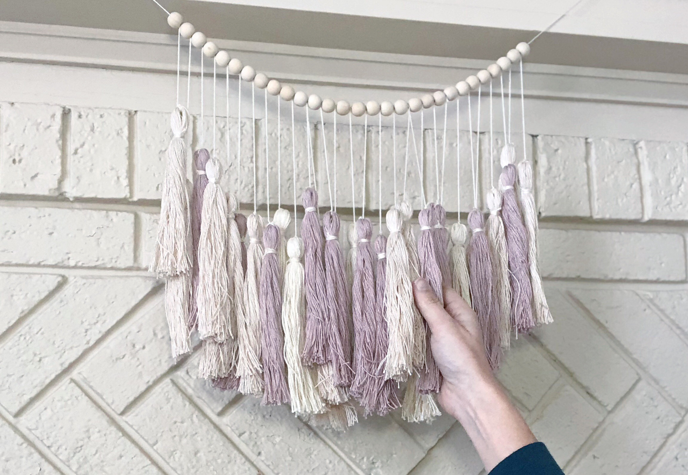 My Pottery Barn Inspired Oversized Tassel Garland