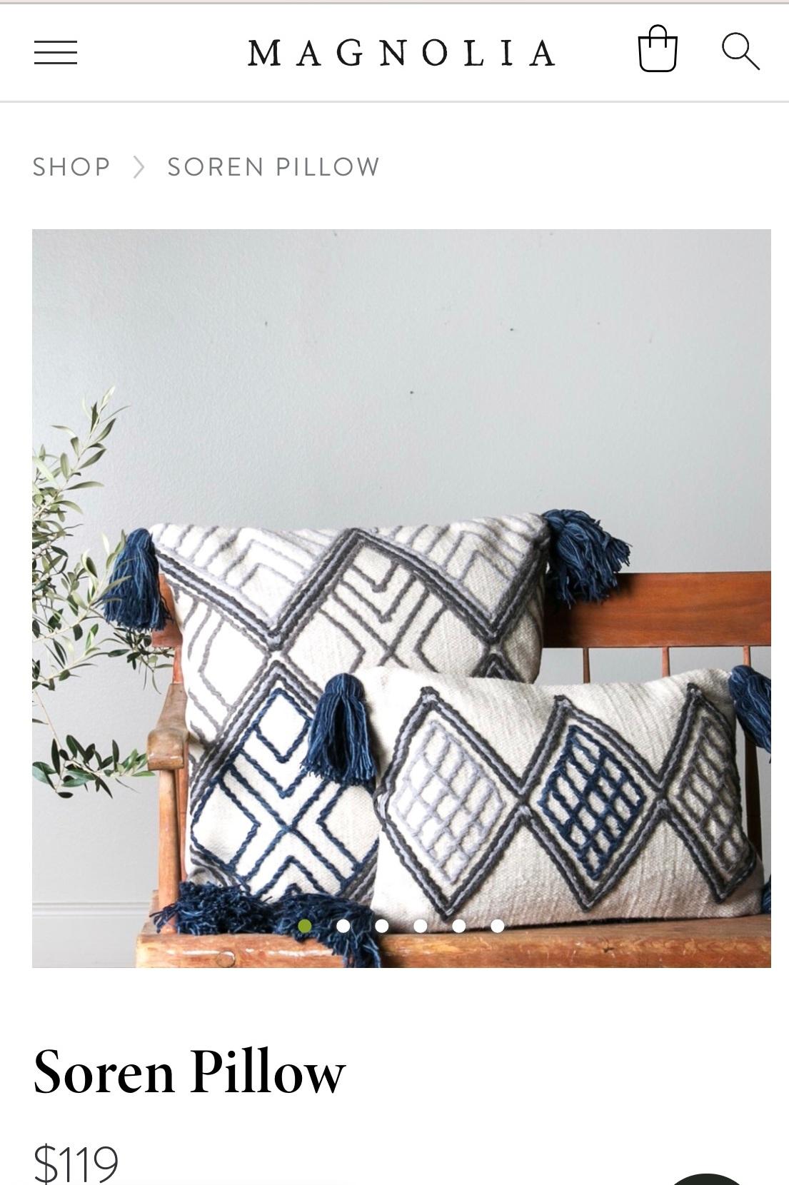Magnolia Market Diy Throw Pillow Modern Farmhouse Decor Allo Plum