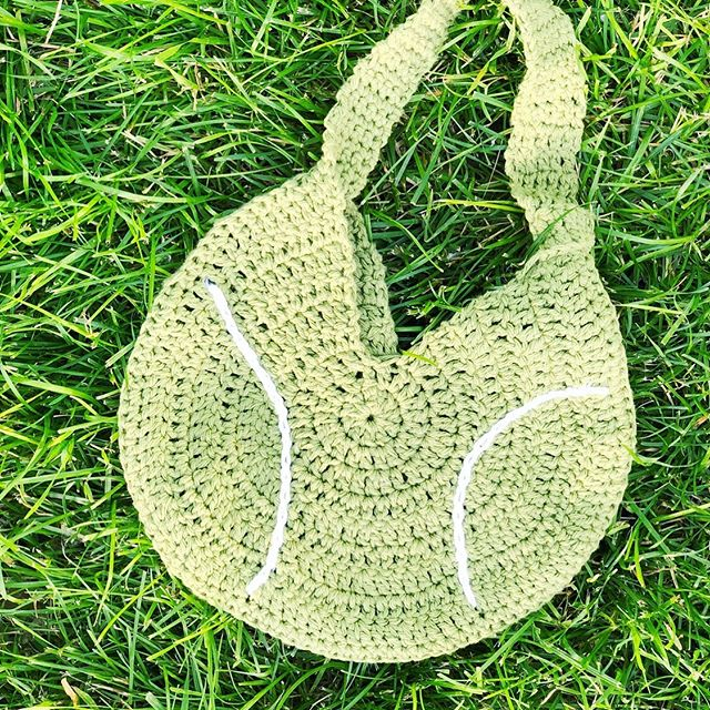 I turned my latest crochet bag pattern into a tennis ball for my tennis loving MIL's birthday! The free pattern for the bag is available on my channel (link in profile) and the stripes on the ball are made with a simple surface stitch! . . . #crochet #crochetbag #shoulderbag #tennisaccessories #tennisball #crochetersofinstagram #crochetgifts #handmadegifts #makersgonnamake
