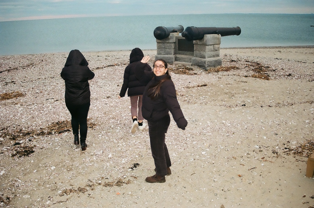 Kiana and pals at the Atlantic Ocean. Photo by  Carly Blumenthal .