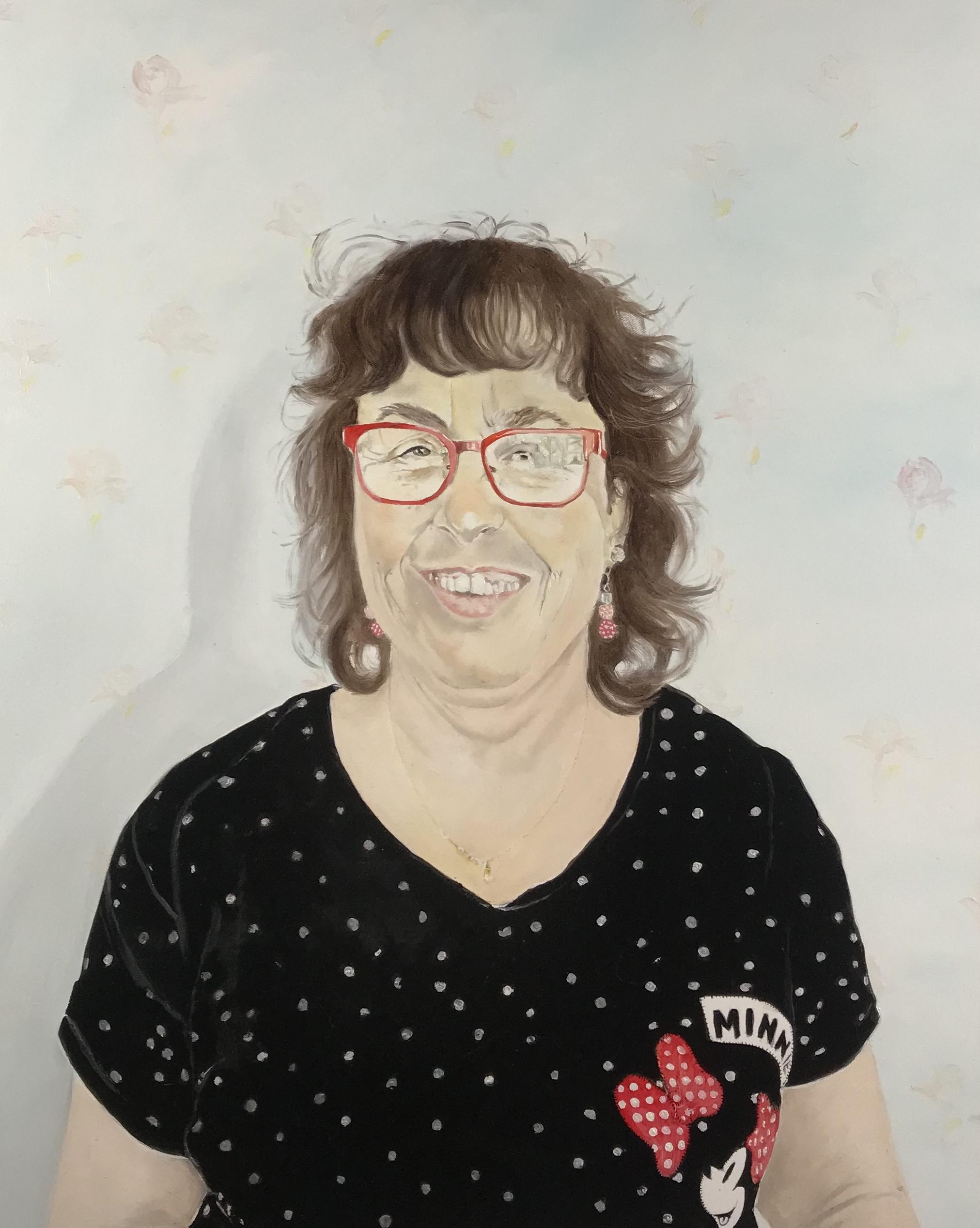 Michelle - Huile sur toile, 81 x 65 cm, Toulouse, 2018