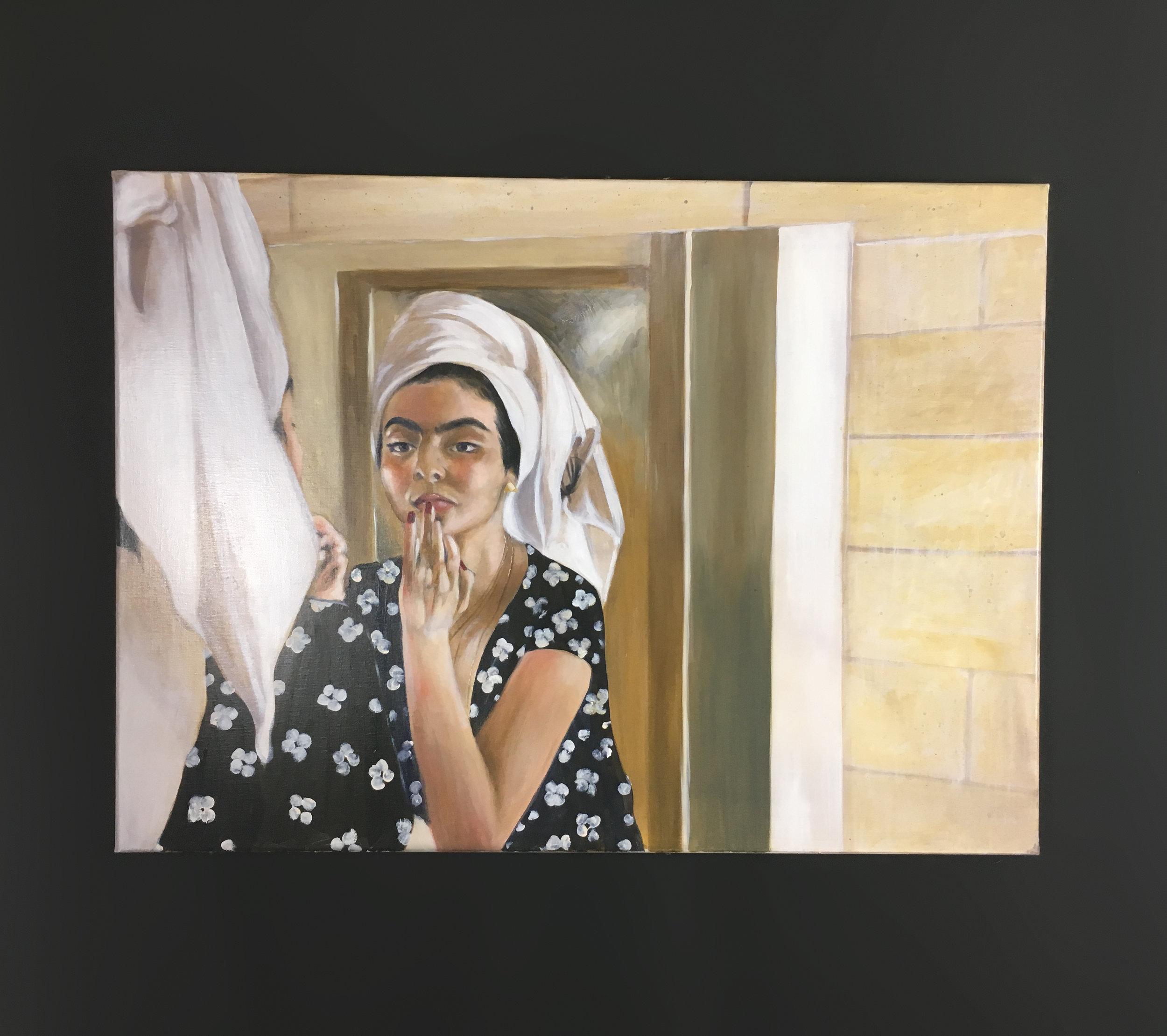 """Séduction - Huile sur toile, 100 x 73 cm, Toulouse, 2019Série """"Poétiques Peintures"""""""