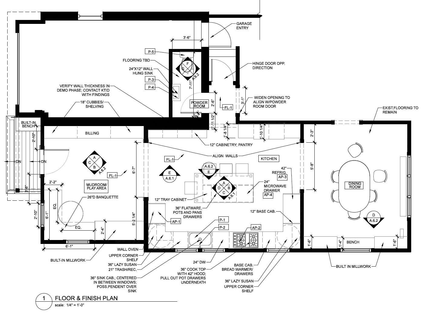 The final floor plan opens up the house from front to back, allowing natural light and views across the whole space.