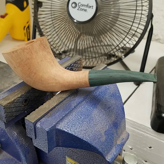 I haven't had a lot of shop time in the last week but this is what I have managed to do so far. If I'm lucky I will have it finished sometime on Sunday. I hope that everyone had a fun and safe 4th! www.ejhpipes.com #pipemaking #handmade #briarpipe #tobaccopipe #smokingpipe #smokingpipes #woodworking #pipemaker #ejhpipes