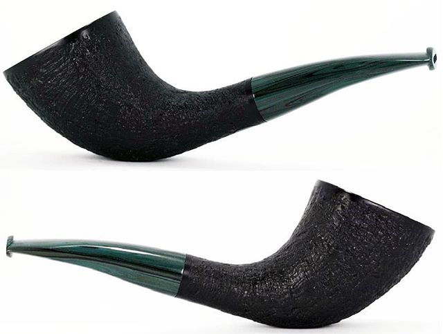 "No. 245 finished pictures. This one is SOLD. Algerian briar, 20mm (.787"") chamber, 1.6oz/46g, turquoise blue cumberland stem, delrin tenon. On to the next one, hopefully it won't take quite so long! www.ejhpipes.com #pipemaking #handmade #briarpipe #sandblasting #tobaccopipe #smokingpipe #smokingpipes #woodworking #pipemaker #pipemaking #ejhpipes"