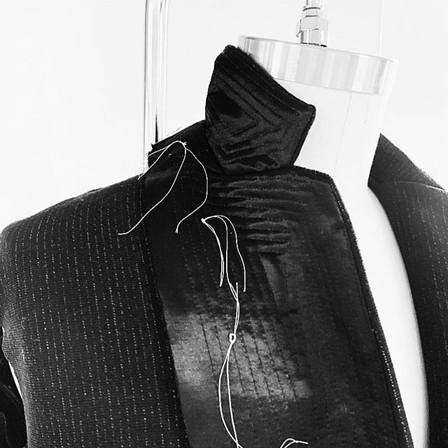 Latest work in progress from Philly Designer, @drewveloric Brought to life by our lead sample maker, @nikkiinstitches  The tailoring details on this piece are everything... Stay tuned! . . #samplemaker #productdevelopement #startupfashion #fashionbusiness #fashionbrand #philadelphiafashion