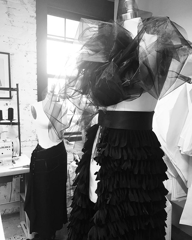 Atelier in process as we get ready for @philly_fashion_week High-end making right here in Philadelphia...