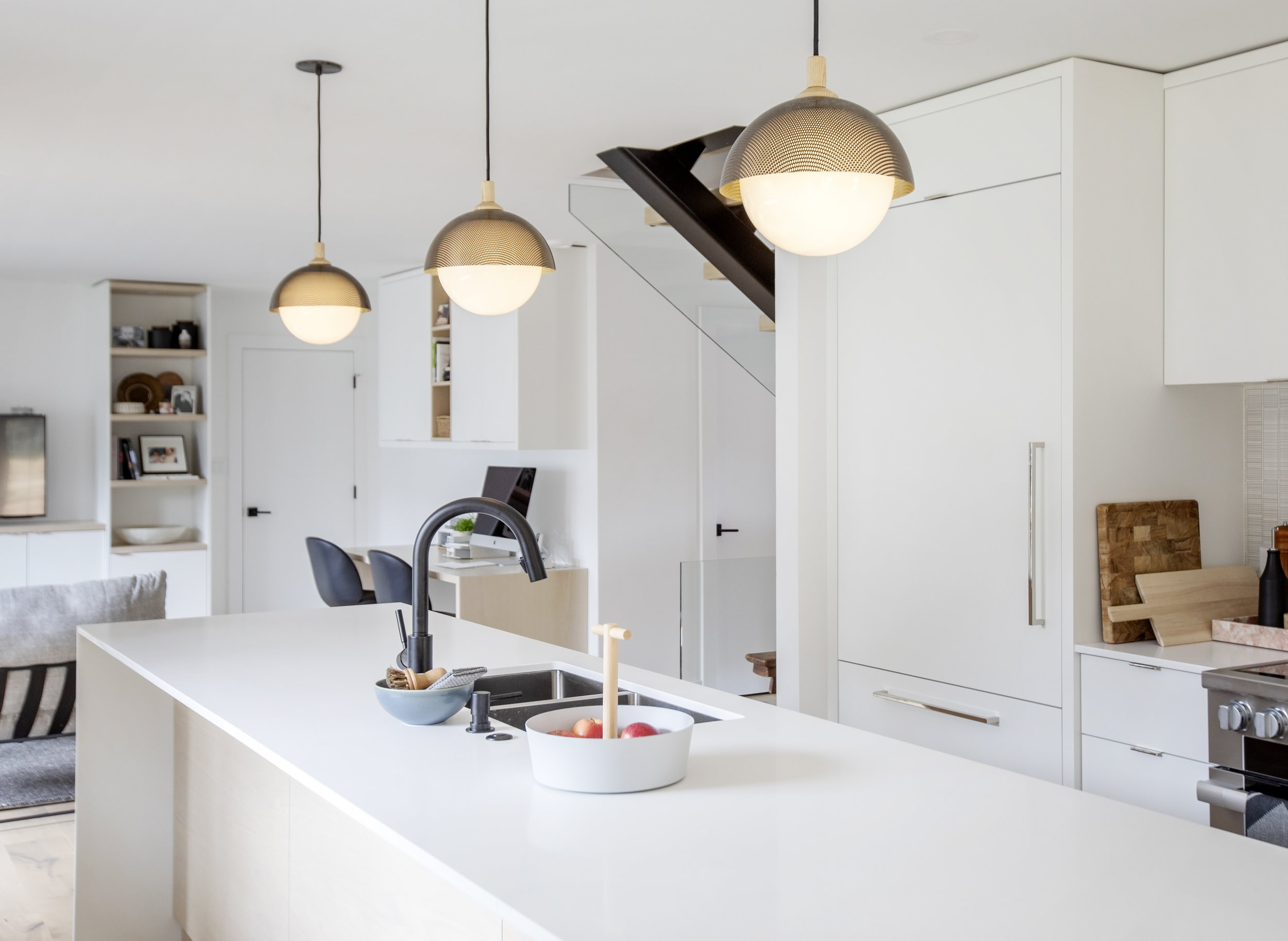 A shot of the kitchen island at Alderfield Place