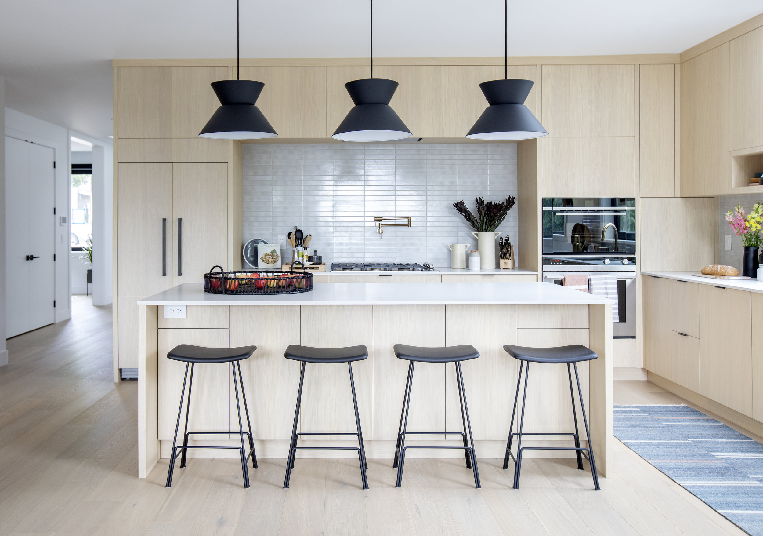 Brightly lit kitchen in East 13th Street home