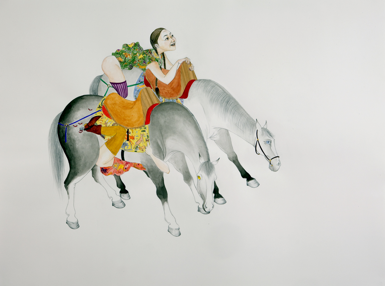 Joy Rides , 2008 Graphite, ink, watercolor, gouache on paper 38 X 50 inches inches Private collection