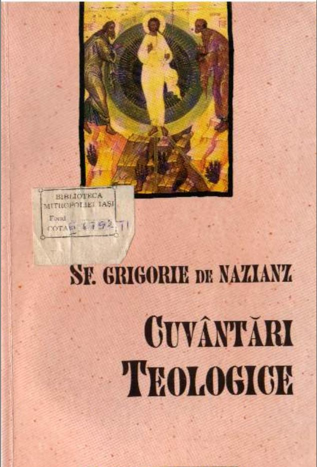 Sf Grigorie de Nazianz - Cuvantari Teologice.JPG