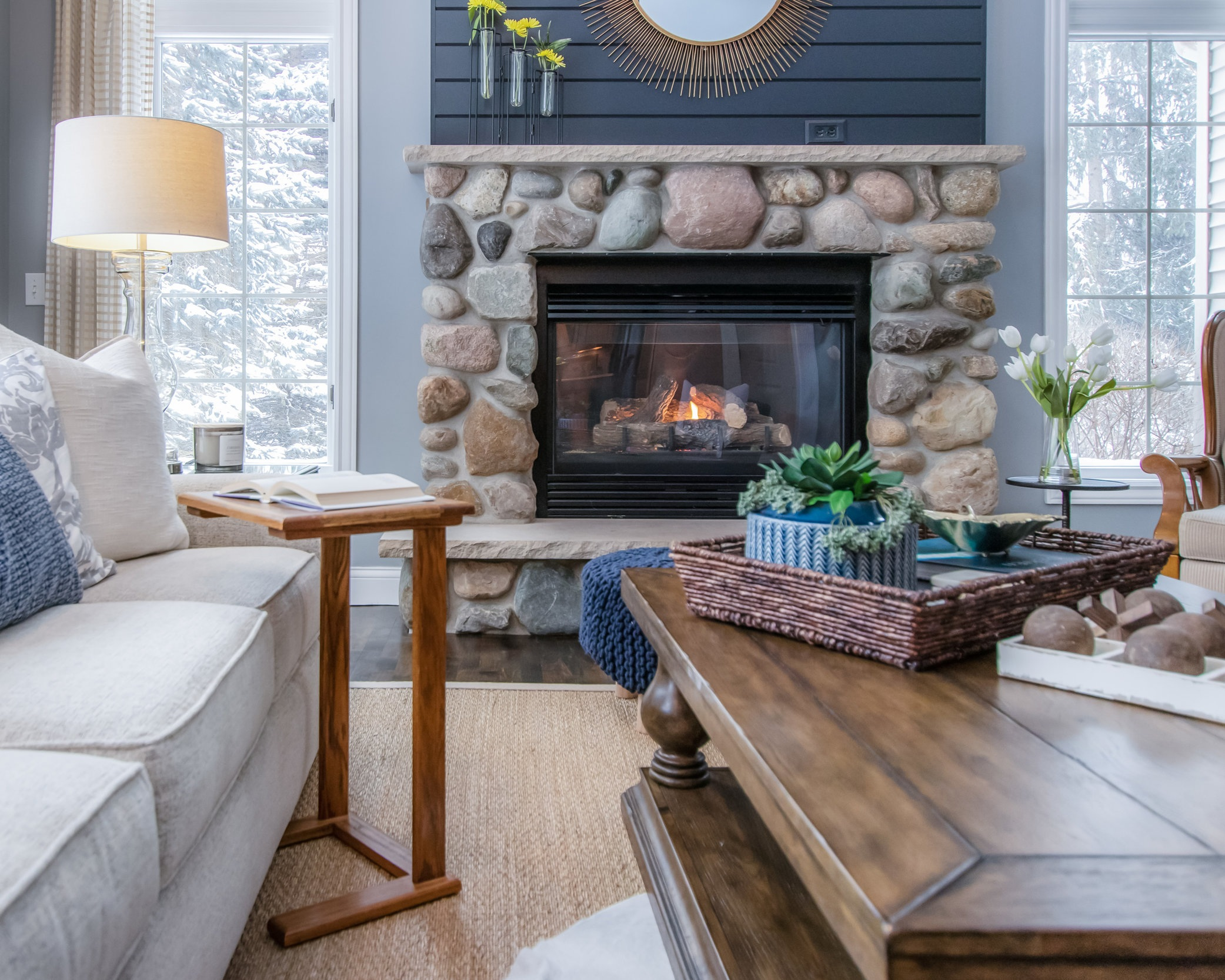 LOST CREEK RESIDENCE - A transitional remodel featuring layers of textural elements and a mix of furniture, old and new.