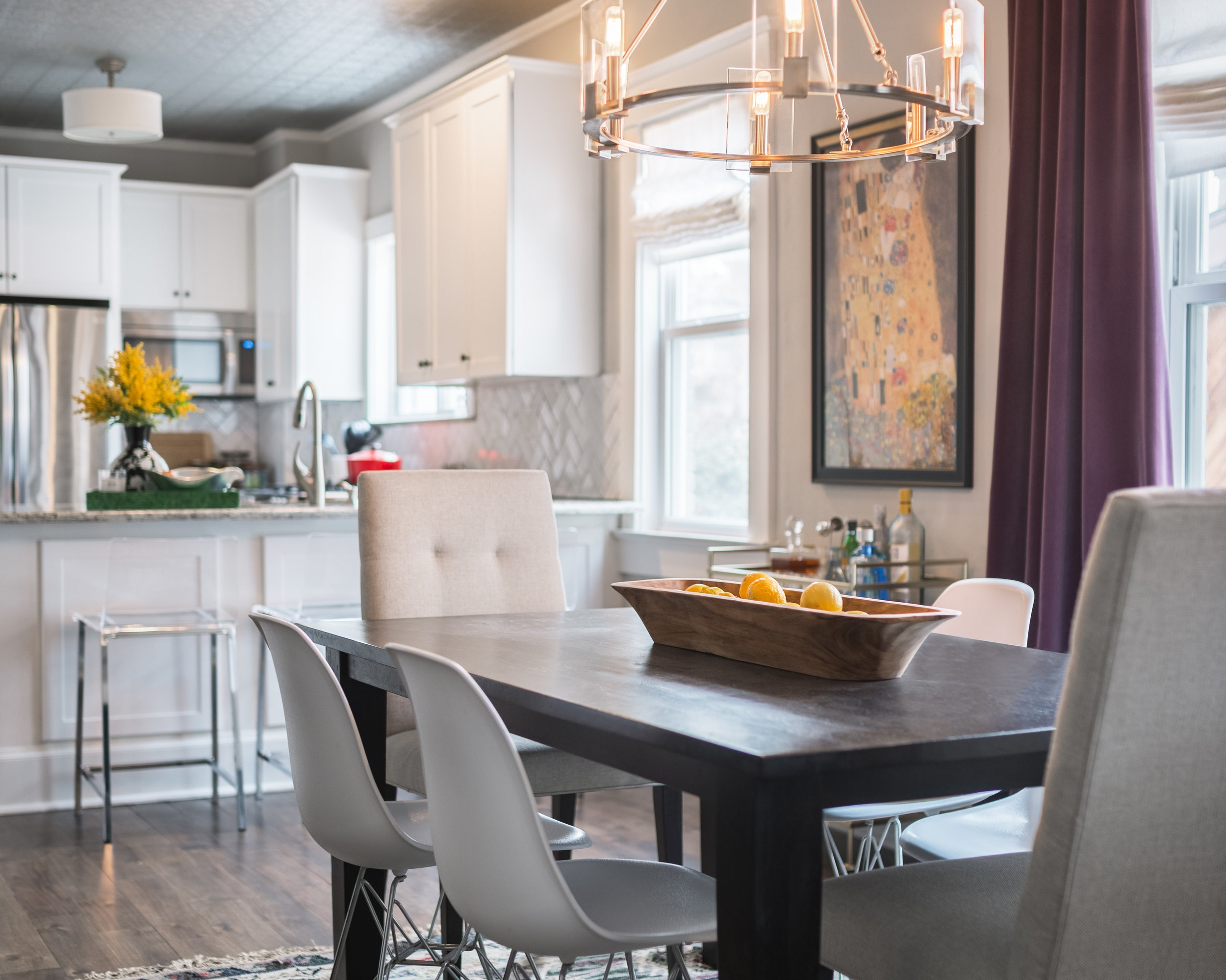 WASH PARK RESIDENCE - A quaint duplex remodel designed to highlight it's unique characteristics and the owner's eclectic style.