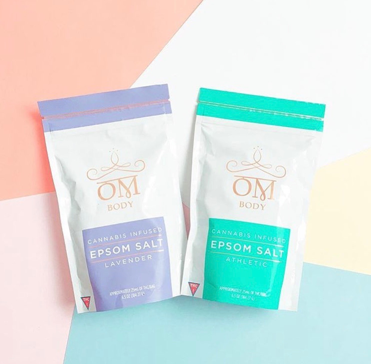 Om Body Epsom Salt   , available in Lavender and Fragrance-Free, $20    Image via    @herbarium.la