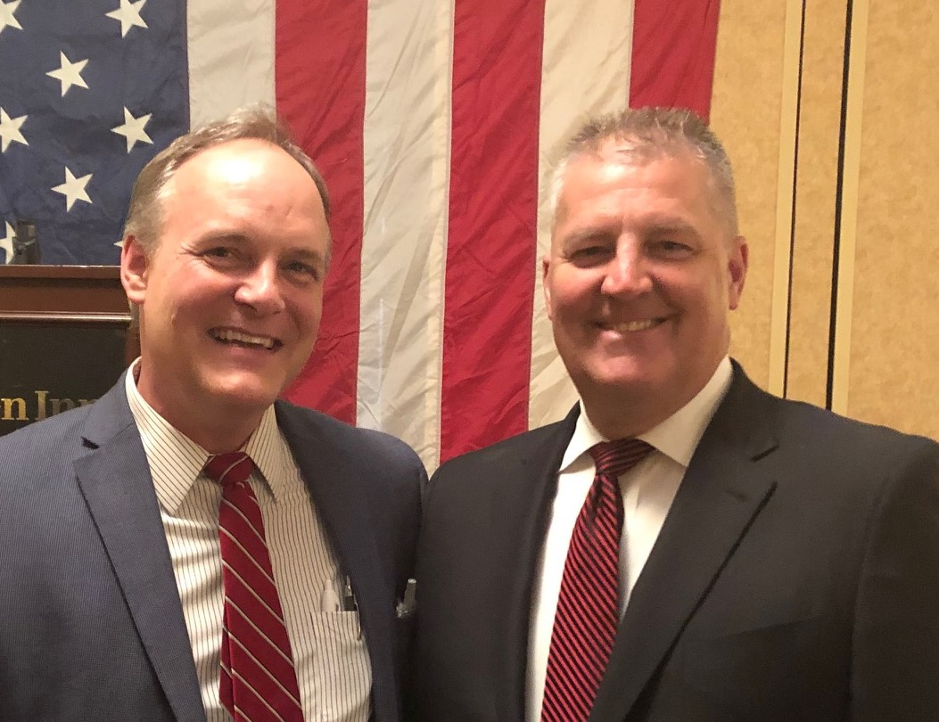 Paul with Oak Creek native Kevin Hermening, ex-Iran Hostage. Thanks to Kevin for his heroic service to our country, as well as his support and endorsement of Judge Paul Dedinsky.