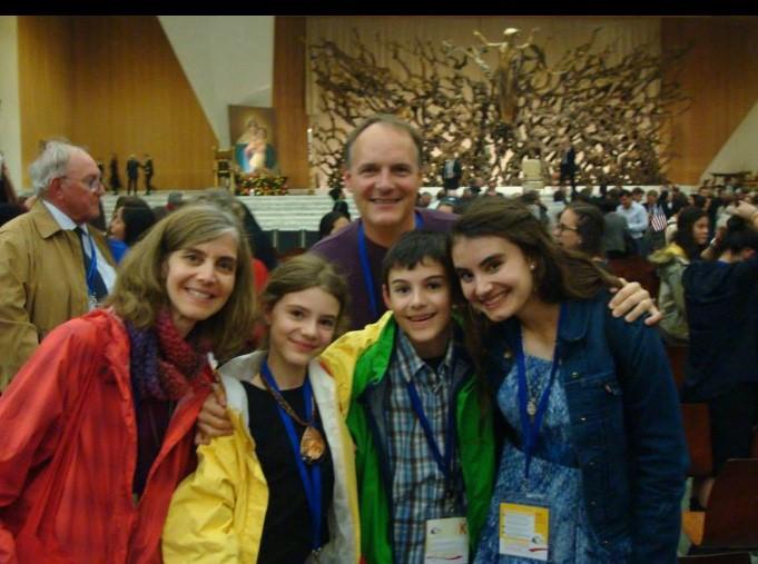 Paul Dedinsky with his family: Lisa, Natalia, Charlie, and Abby.