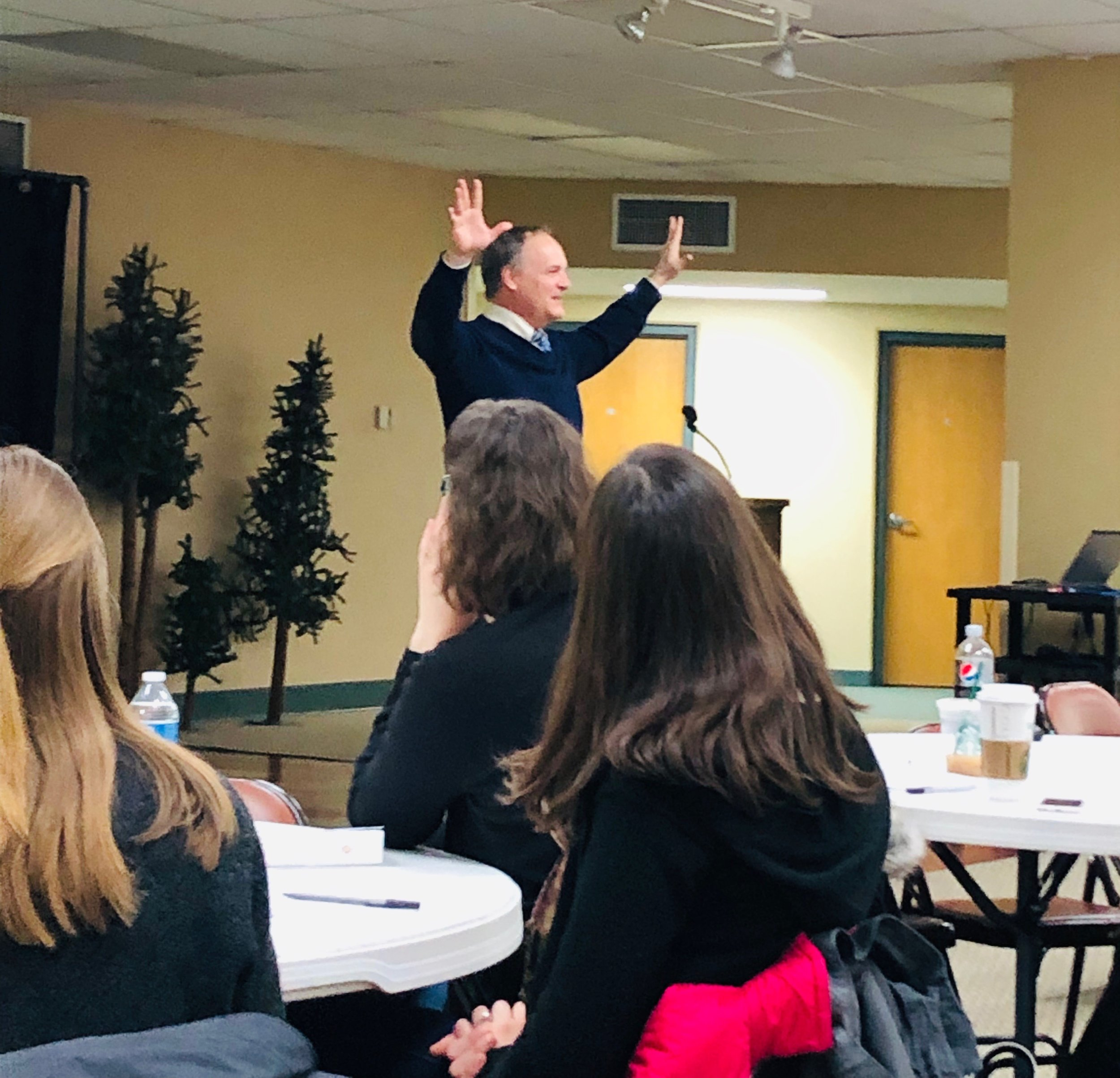 Paul teaching school teachers from the Archdiocese of Milwaukee on behalf of Cardinal Stritch University's St. Clare Center, 2019.