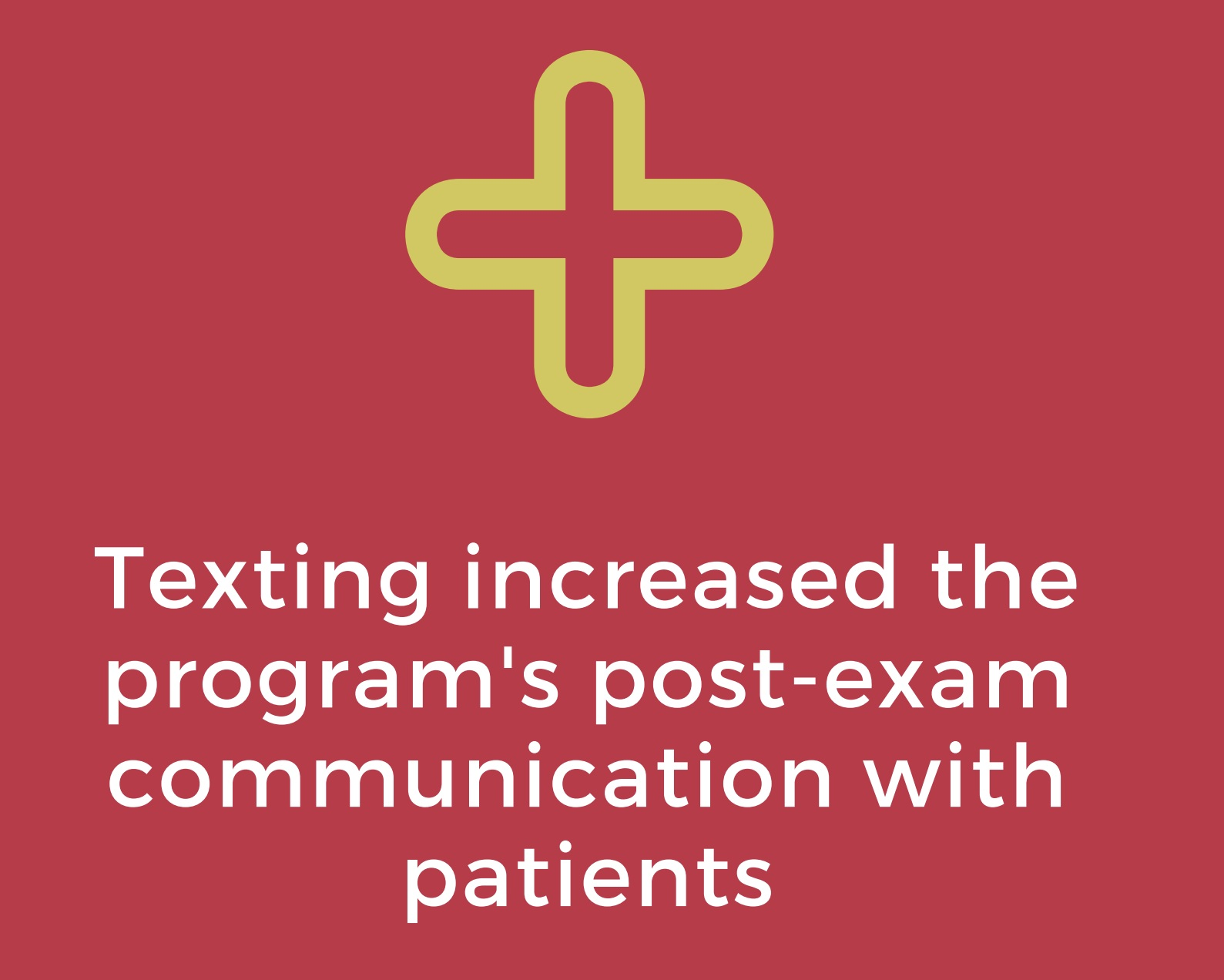 Texting for Patient Care -