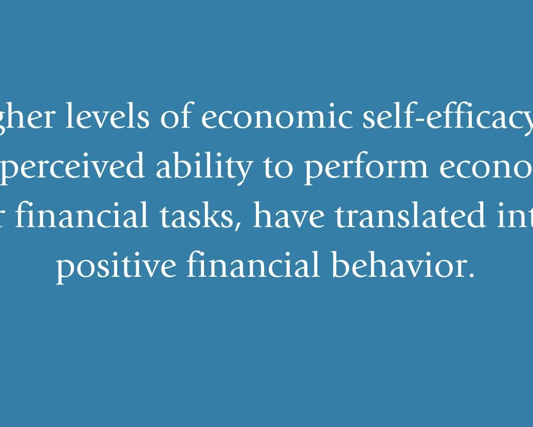 Economic Self-Efficacy -
